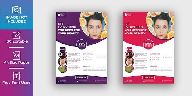 Modelo de design de folheto de maquiagem para beleza incrível