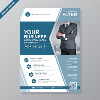 Modelo de design de folheto de negócios capa a4