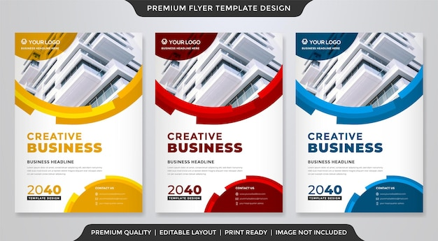 Modelo de design de folheto de negócios com estilo moderno e minimalista