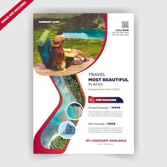 Modelo de design de folheto de negócios de viagens