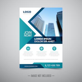 Modelo de design de folheto de negócios