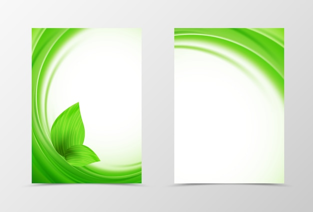 Modelo de design de folheto de onda frontal e traseira