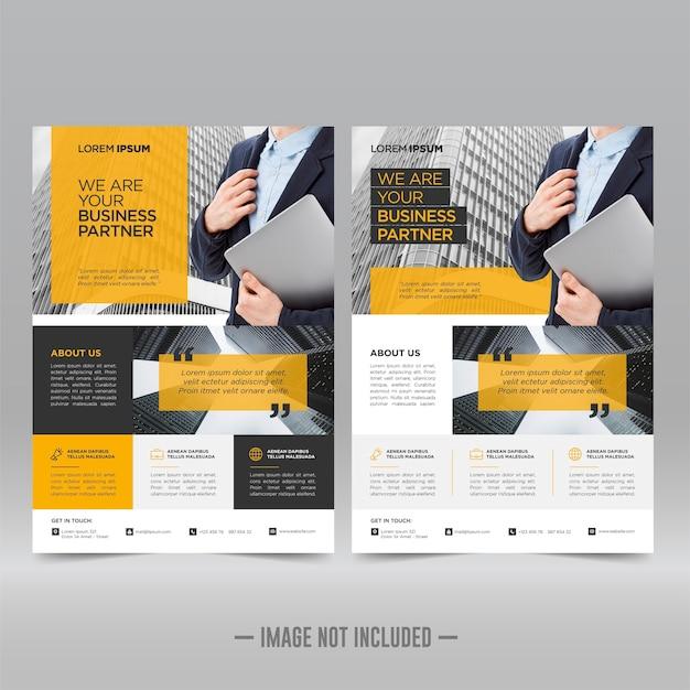 Modelo de design de folheto de pôster corporativo