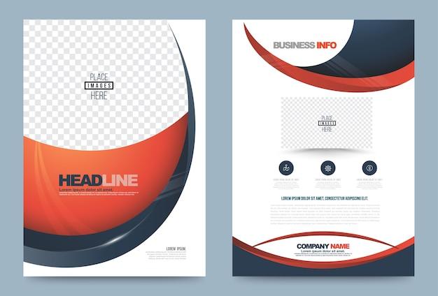 Modelo de design de folheto de relatório anual