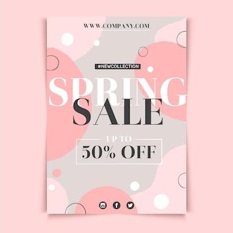 Modelo de design de folheto de venda de primavera