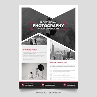 Modelo de design de folheto de vetor de fotografia