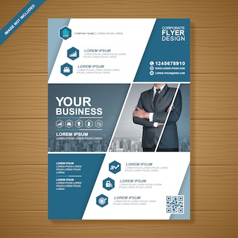 Modelo de design de folheto elegante de negócios