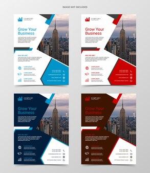 Modelo de design de folheto empresarial moderno