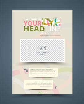 Modelo de design de folheto folheto relatório anual colorido.