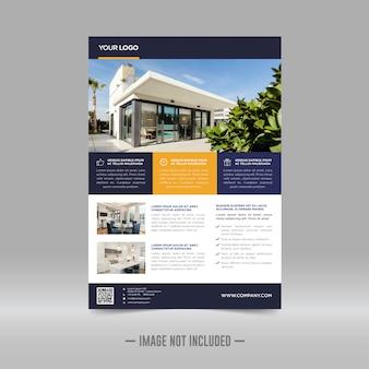 Modelo de design de folheto imobiliário