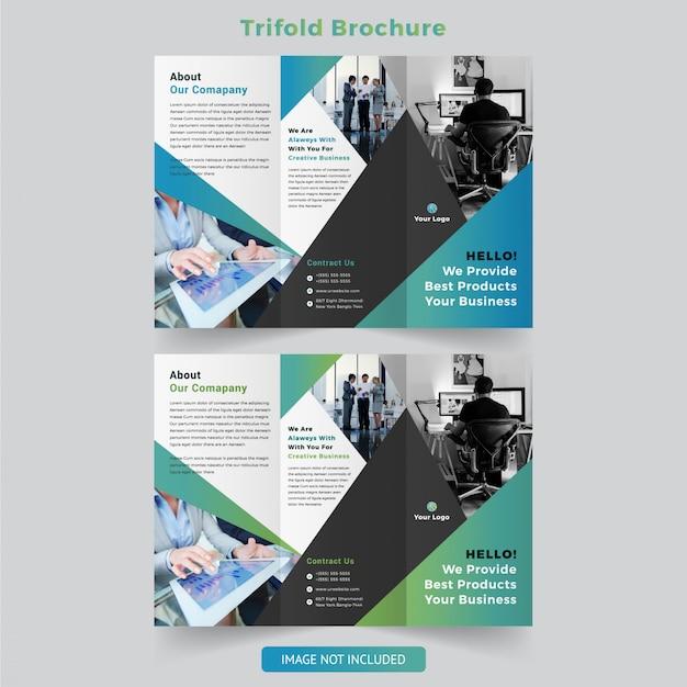 Modelo de design de folheto moderno com três dobras