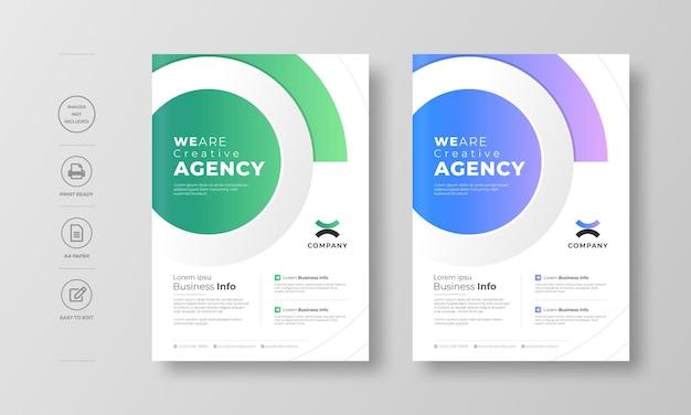 Modelo de design de folheto moderno corporativo