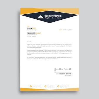 Modelo de design de folheto moderno empresa com cor amarela