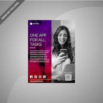 Modelo de design de folheto para App