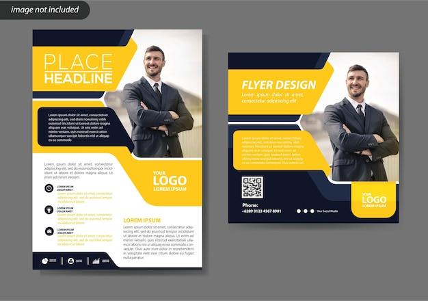 Modelo de design de folheto para relatório anual de layout de capa