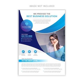 Modelo de design de folheto profissional de negócios corporativos