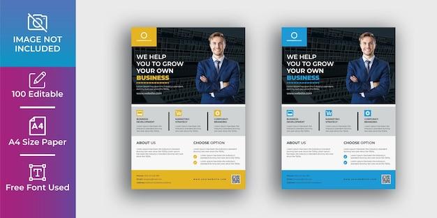 Modelo de design de folheto profissional para negócios corporativos