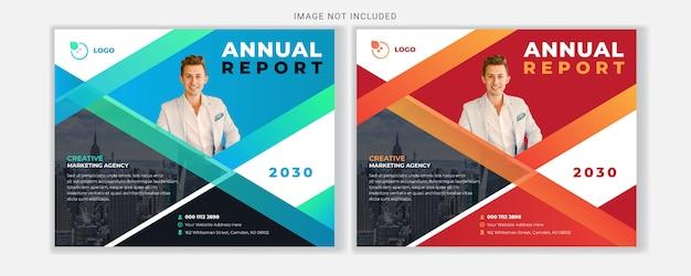 Modelo de design de folheto profissional relatório anual de negócios