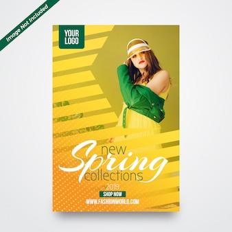 Modelo de design de folheto promocional de venda de primavera