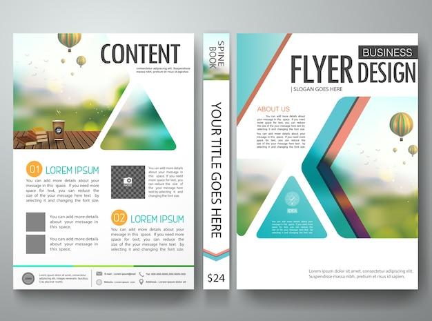 Modelo de design de folhetos