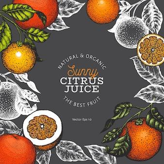 Modelo de design de fruta laranja.