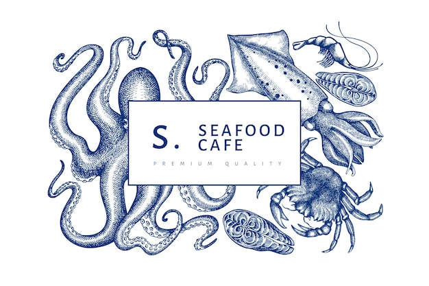 Modelo de design de frutos do mar