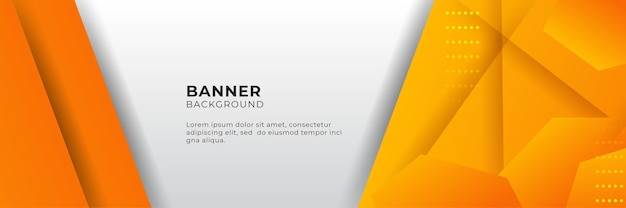 Modelo de design de fundo de banner abstrato moderno gradiente laranja e amarelo