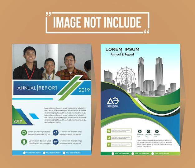 Modelo de design de fundo de brochura de capa de negócios