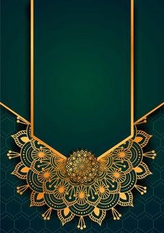 Modelo de design de fundo de mandala de luxo islâmico