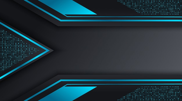 Modelo de design de fundo de negócios corporativos preto e azul techno