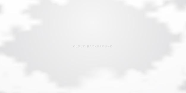 Modelo de design de fundo de nuvem branca abstrata