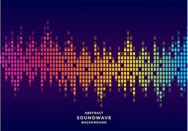 Modelo de design de fundo de onda sonora de equalizador de estilo abstrato