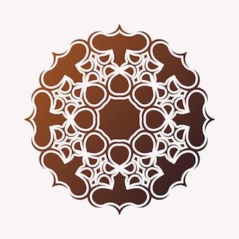 Modelo de design de fundo plano de mandala