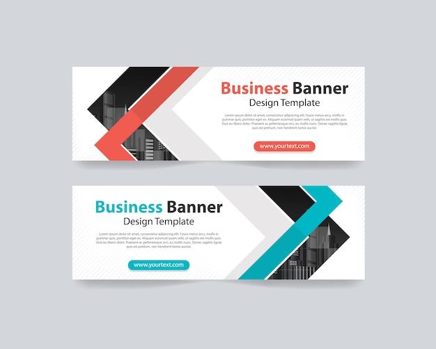 Modelo de design de fundos abstratos web banner