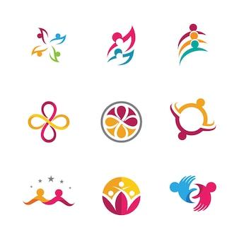 Modelo de design de ícone de comunidade, rede e social