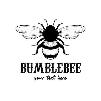 Modelo de design de ícone de logotipo de abelha desenho de ilustração de abelha isolado