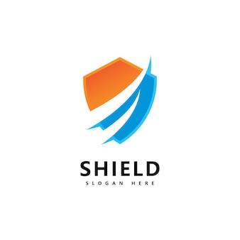 Modelo de design de ícone de logotipo de escudo