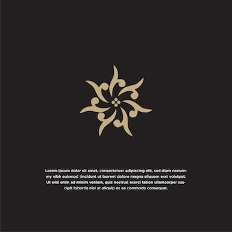 Modelo de design de ícone de logotipo de flor abstrata