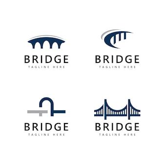 Modelo de design de ícone de logotipo de ponte