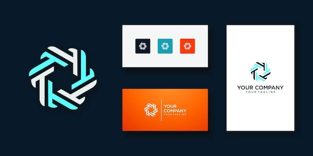 Modelo de design de ícone de logotipo letra t