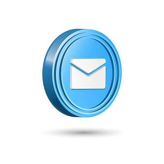 Modelo de design de ícone de mensagem 3d