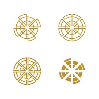 Modelo de design de ícone de vetor de techno em círculo