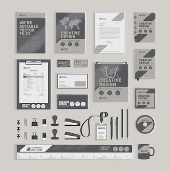 Modelo de design de identidade corporativa geométrica