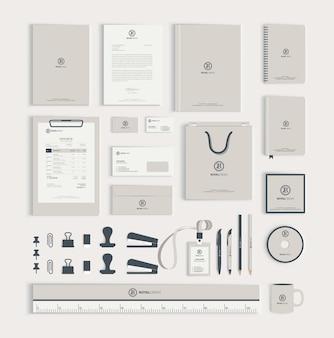 Modelo de design de identidade corporativa