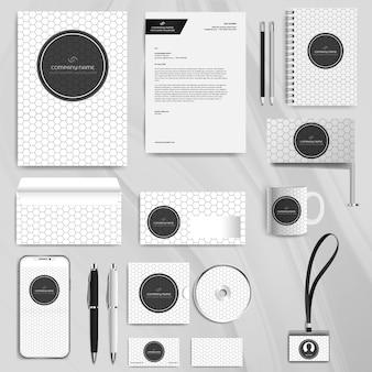Modelo de design de identidade de negócios corporativos