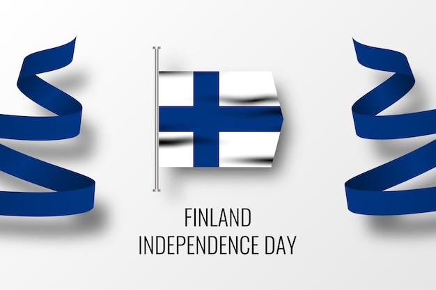 Modelo de design de ilustração da celebração do dia da independência da finlândia