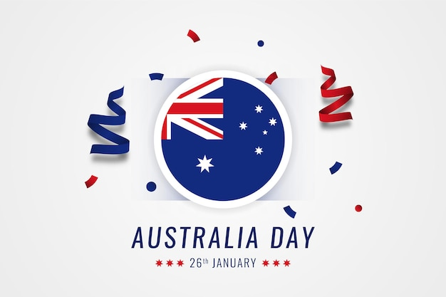 Modelo de design de ilustração de celebração do dia da austrália