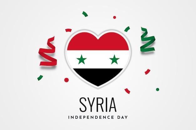 Modelo de design de ilustração de celebração do dia da independência da síria