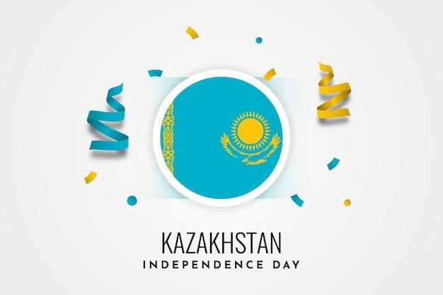 Modelo de design de ilustração de celebração do dia da independência do cazaquistão