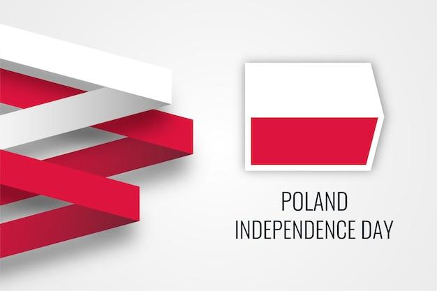 Modelo de design de ilustração de celebração do dia da independência nacional da polônia